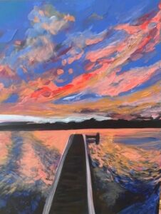 painting of jetty
